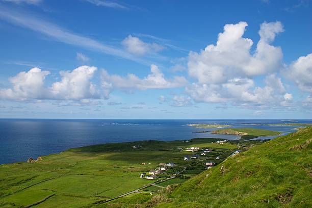 Sky Road, Clifden - Irish seaside at it's most beautiful stock photo