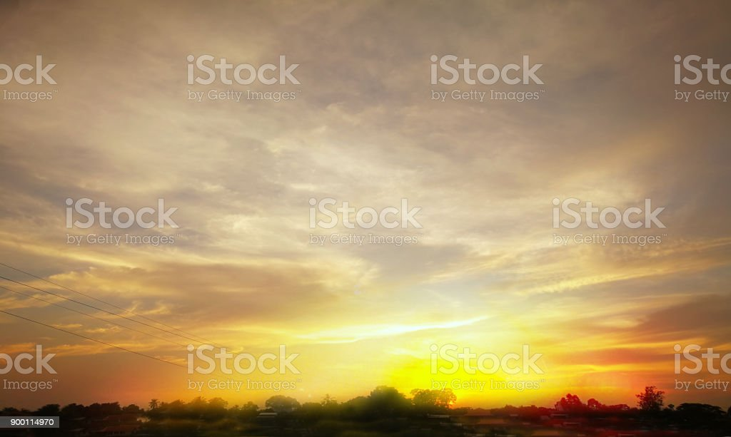 sky scape of background nature, time , concept stock photo