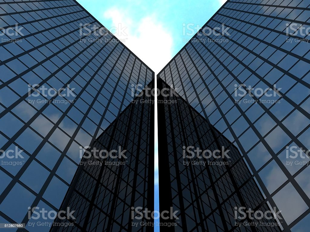 Sky scraper and sky stock photo