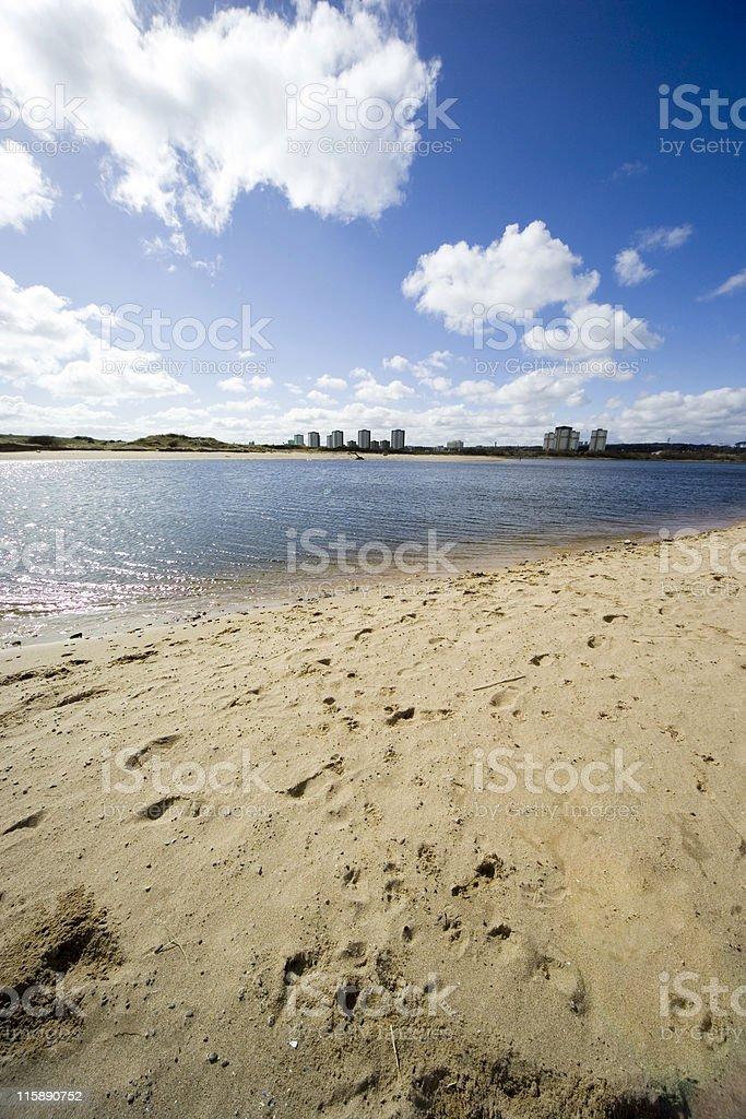 Sky Sea Sand City royalty-free stock photo