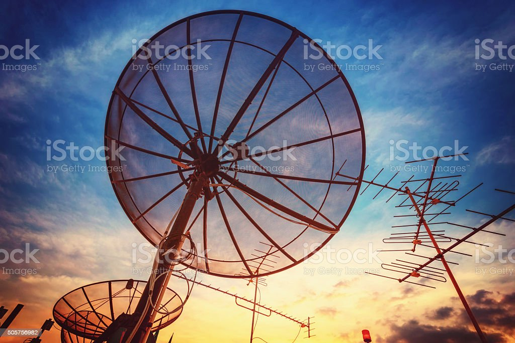 sky signal home stock photo