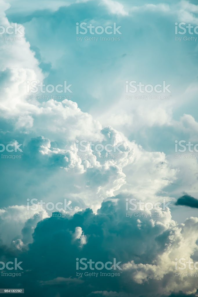 Sky Strom Light stock photo