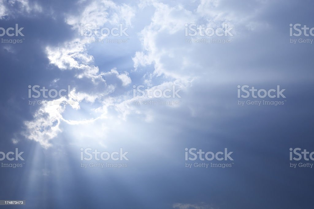 Sky. Sun in the clouds. royalty-free stock photo