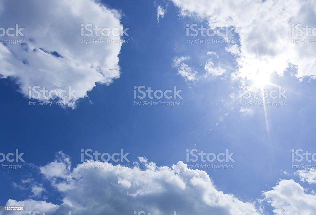 Sky & Sun royalty-free stock photo