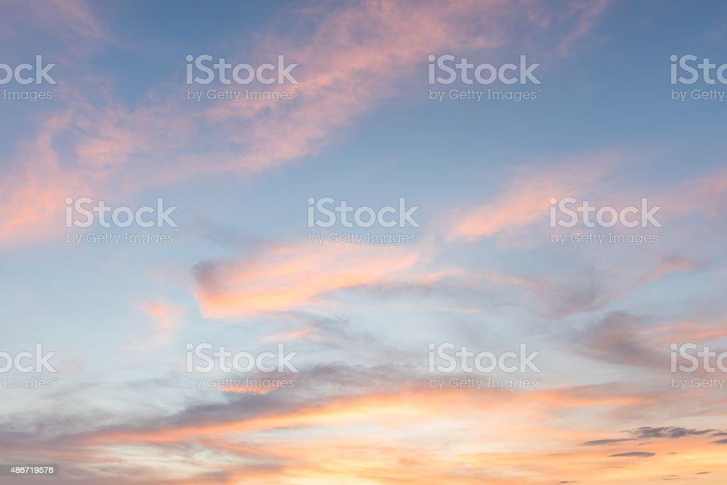 sky sunset background stock photo