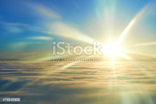 istock Sky, sunset sun and clouds 479345905