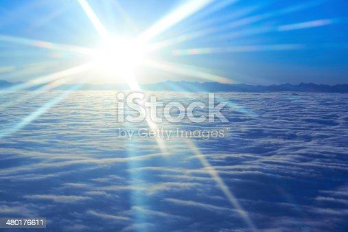 184857129istockphoto Sky, sunset sun and clouds 480176611