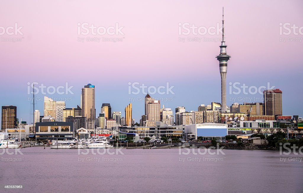 Sky tower at Auckland stock photo