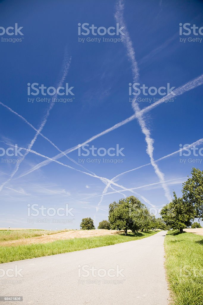 Sky Traffic royalty-free stock photo