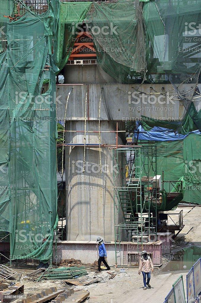 Sky train are construction royalty-free stock photo