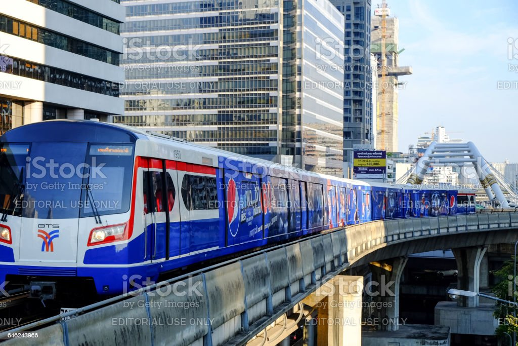 BTS Sky train stock photo
