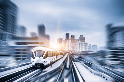 Sky Train Durch City Center In Kuala Lumpur Motion Blur Stockfoto und mehr Bilder von Architektur