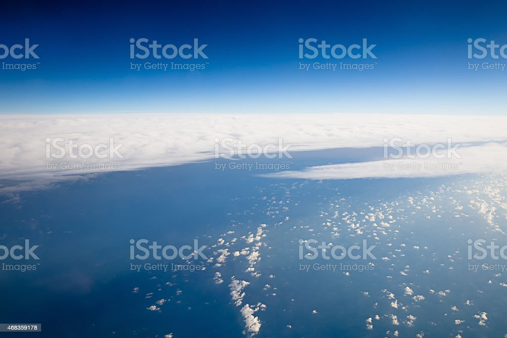Sky veiw from airplane royalty-free stock photo
