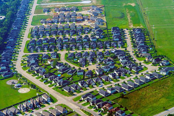 Sky view of Houston Community stock photo