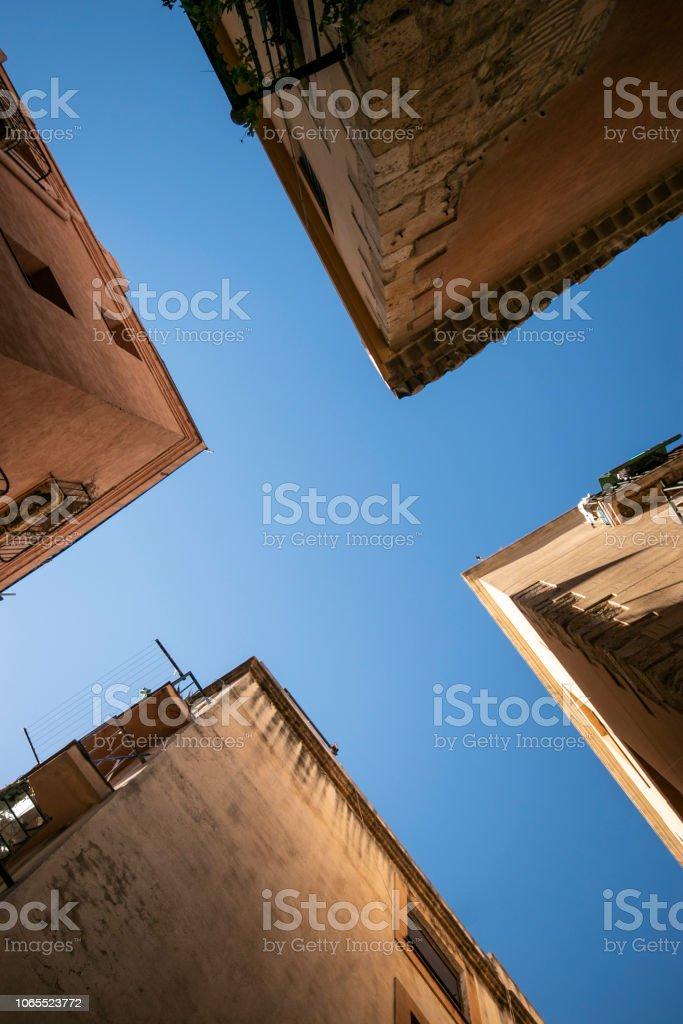 Himmel Anzeigen der alten Stadt. – Foto