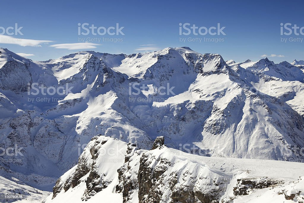 Sky view of the alps royalty-free stock photo