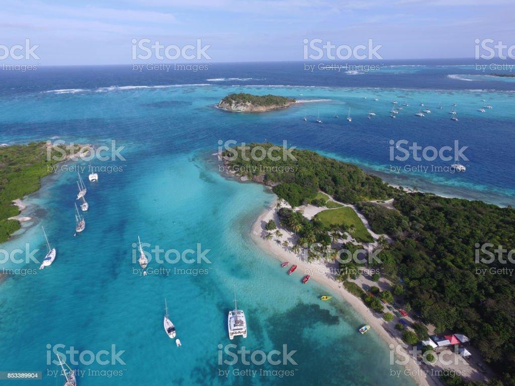 Sky View - Tobago Cays stock photo