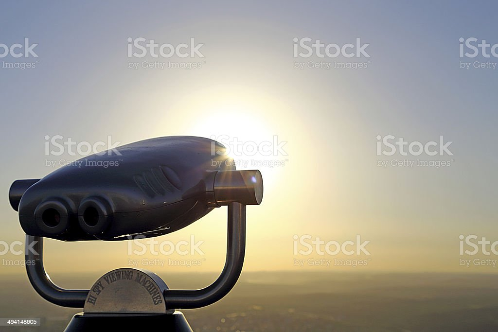 Sky Viewing machine on sunshine background stock photo