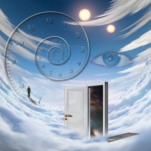 sky walking - going inside eye imagens e fotografias de stock