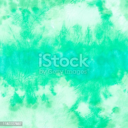 istock Sky Watercolor Paintings  .Tie Dye Painting Art. Abstract Texture Background. Green Watercolor Paintings  .Aquarelle Wet Wash. Turquoise Fashion Textile Watercolour. 1182227657