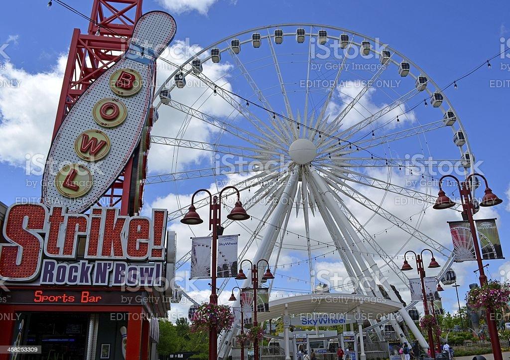 Sky Wheel Niagara Falls royalty-free stock photo