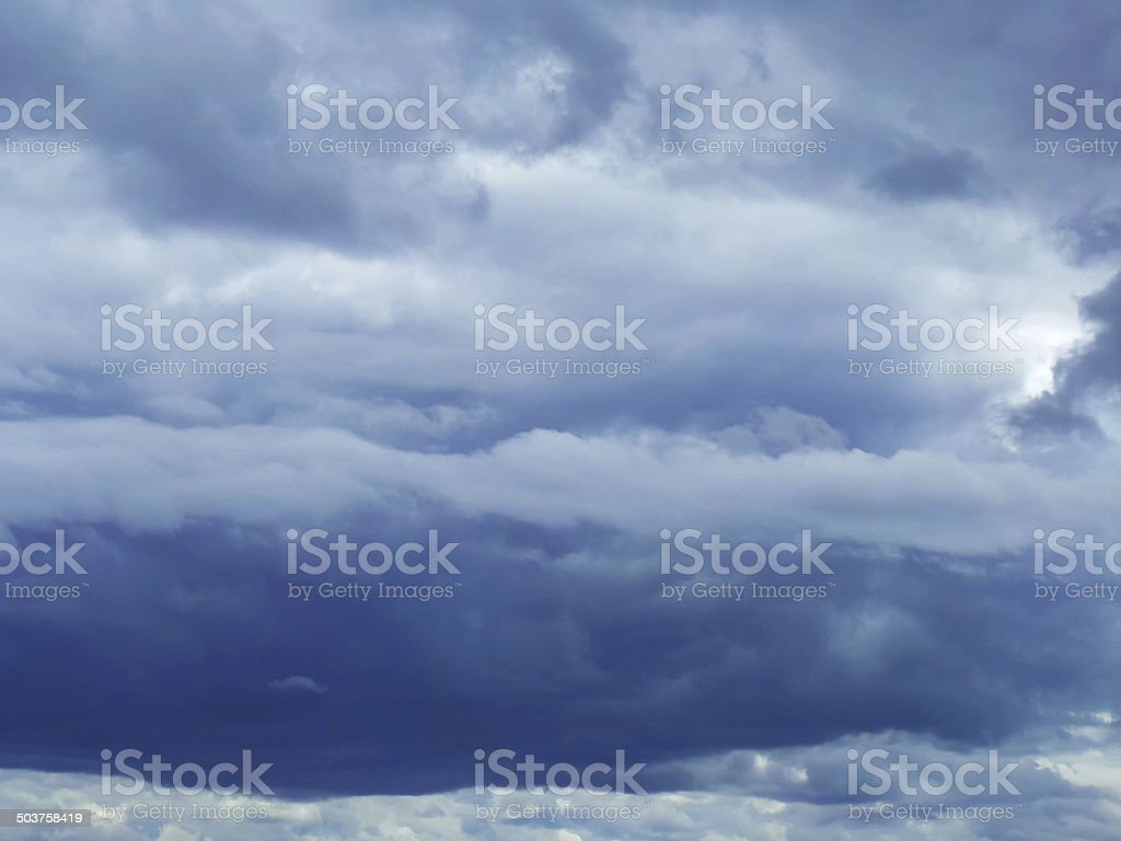 Sky with dark blue clouds royalty-free stock photo