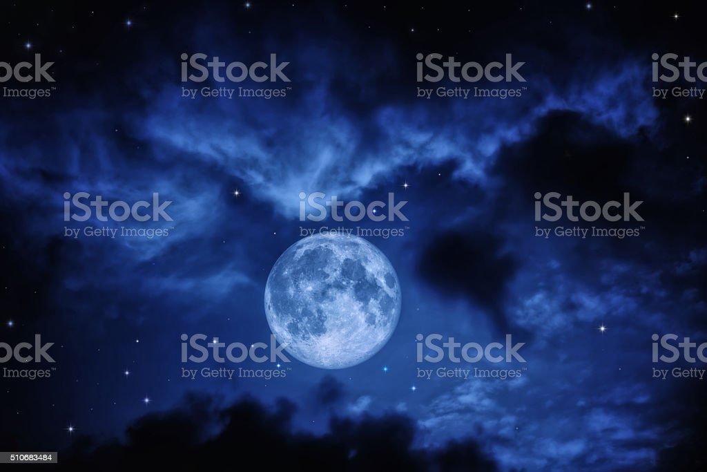 Sky with full moon stock photo