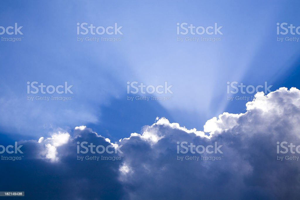 Sky with Light royalty-free stock photo