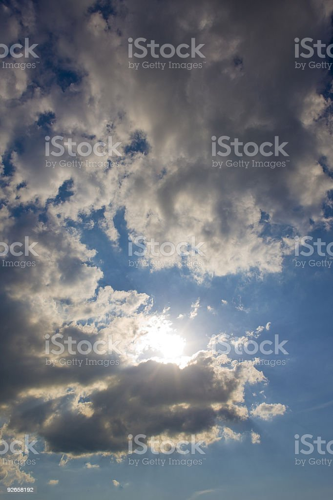 sky with sun at backlight royalty-free stock photo