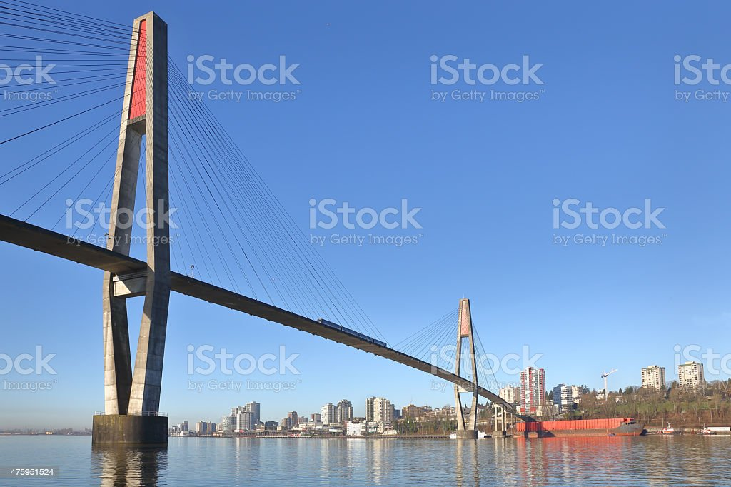 Skybridge New Westminster, British Columbia stock photo
