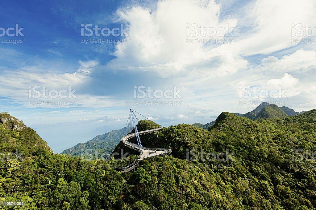 skybridge tropical scenic view stock photo