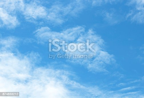 sky-clouds white  blue background