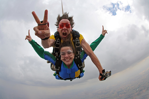 istock Skydive Tandem Happiness 955137838