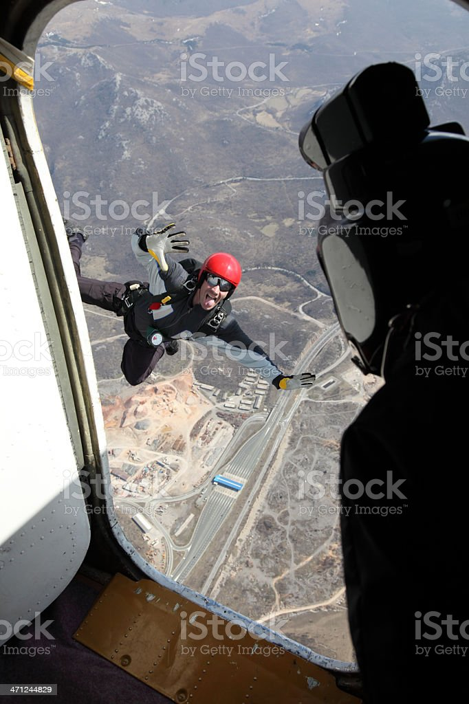 Skydiver in action royalty-free stock photo
