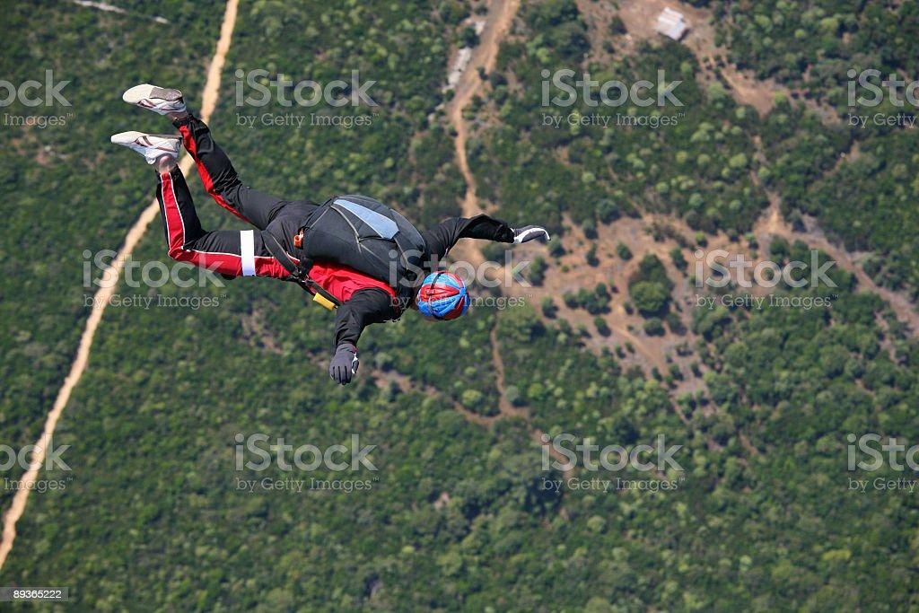 Parachutiste en action photo libre de droits
