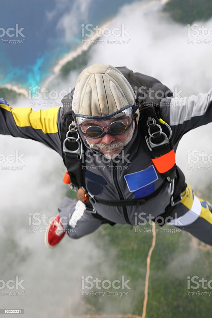Skydiver in air royalty-free stock photo