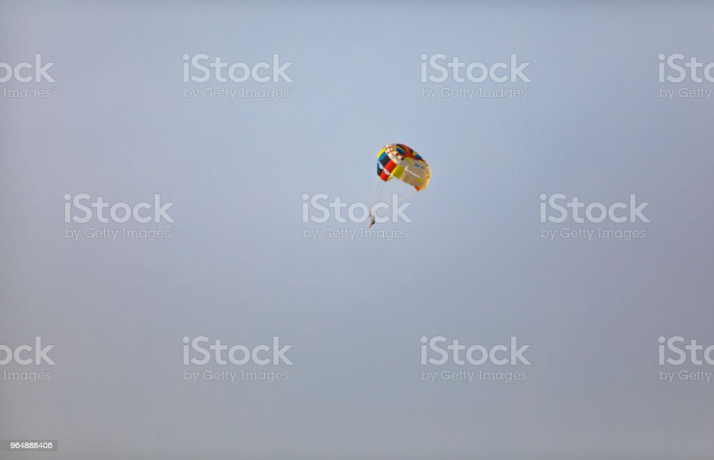 skydiver in the sky royalty-free stock photo