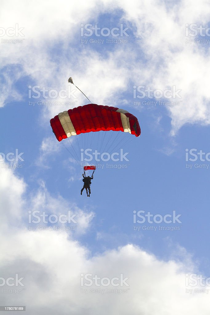 Skydiver Parachute Open royalty-free stock photo