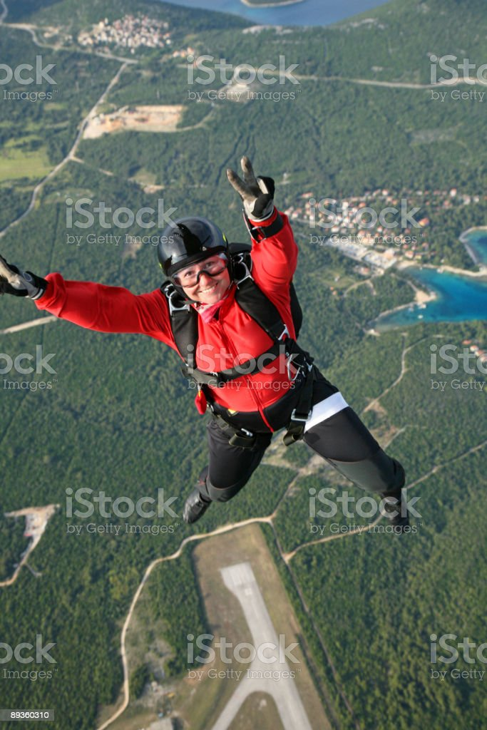 Skydiver foto stock royalty-free