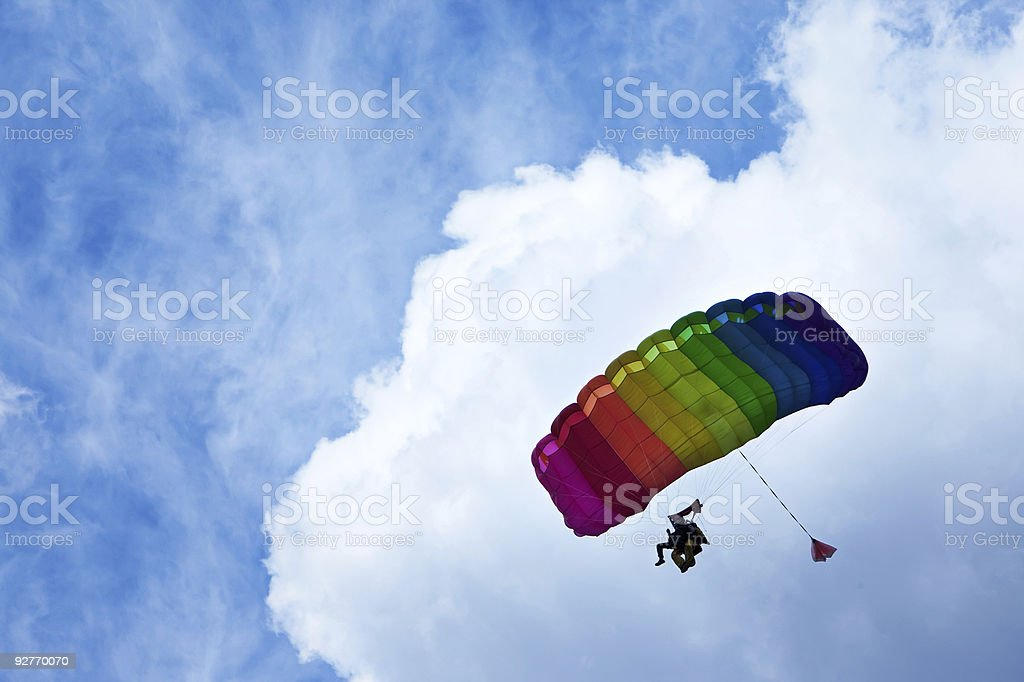 Skydiver Lizenzfreies stock-foto