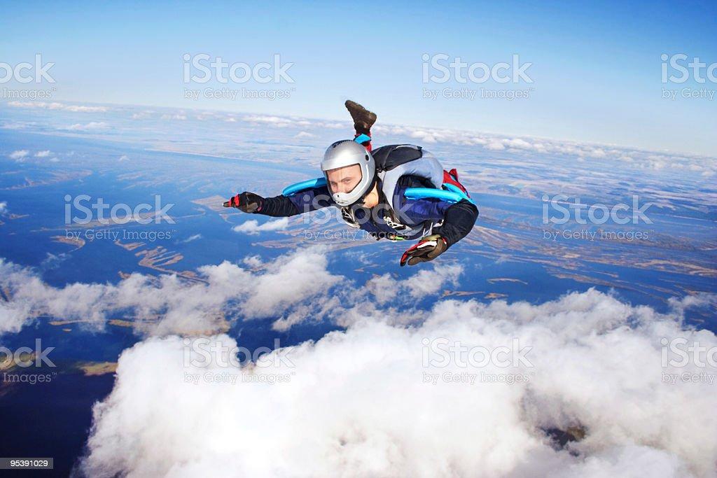 Skydiver - foto de stock