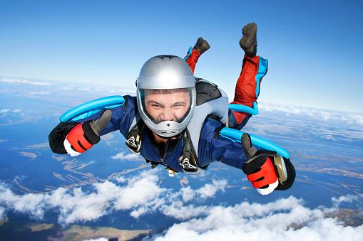 Skydiver Stockfoto und mehr Bilder von Blau