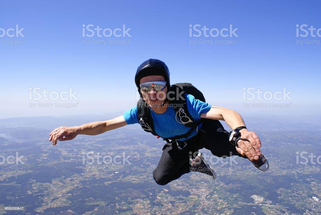 Skydiver stock photo