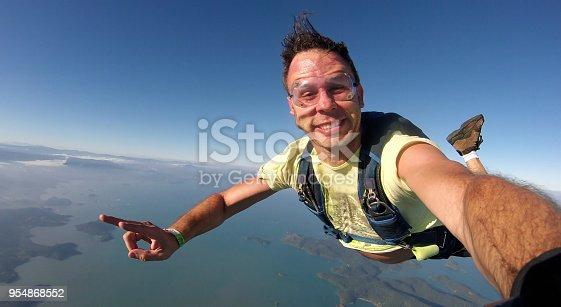 istock Skydiver selfie 954868552