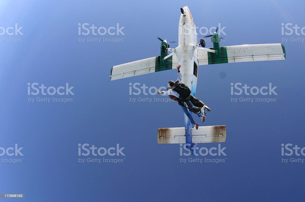 Skydivers in Flight royalty-free stock photo