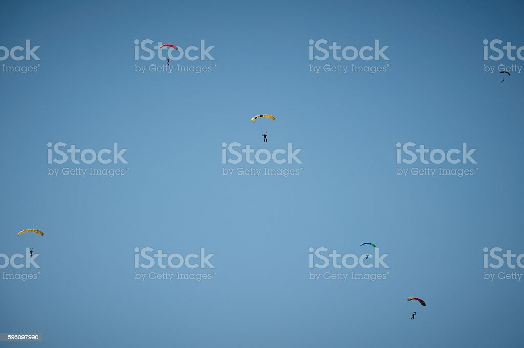 skydivers royalty-free stock photo