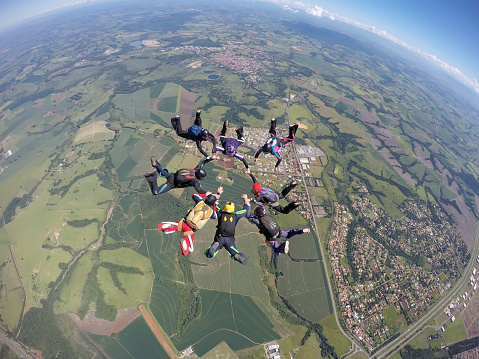 istock Skydiving group formation 1130584251