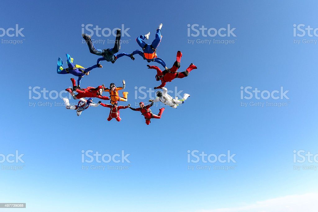 Fallschirmspringen Foto. - Lizenzfrei 2015 Stock-Foto