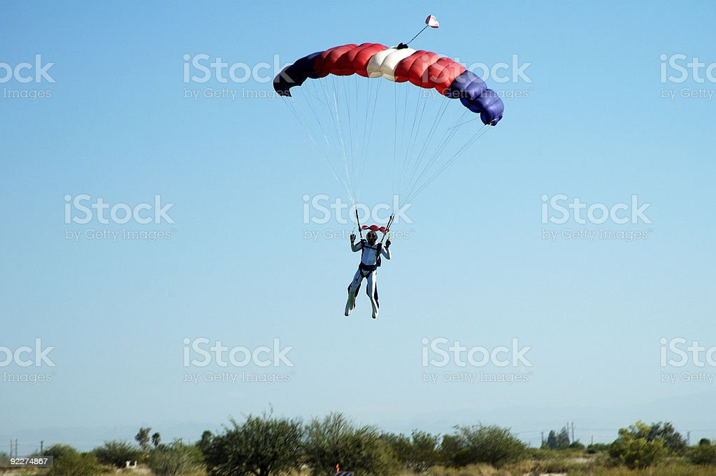 Skydiving stock photo