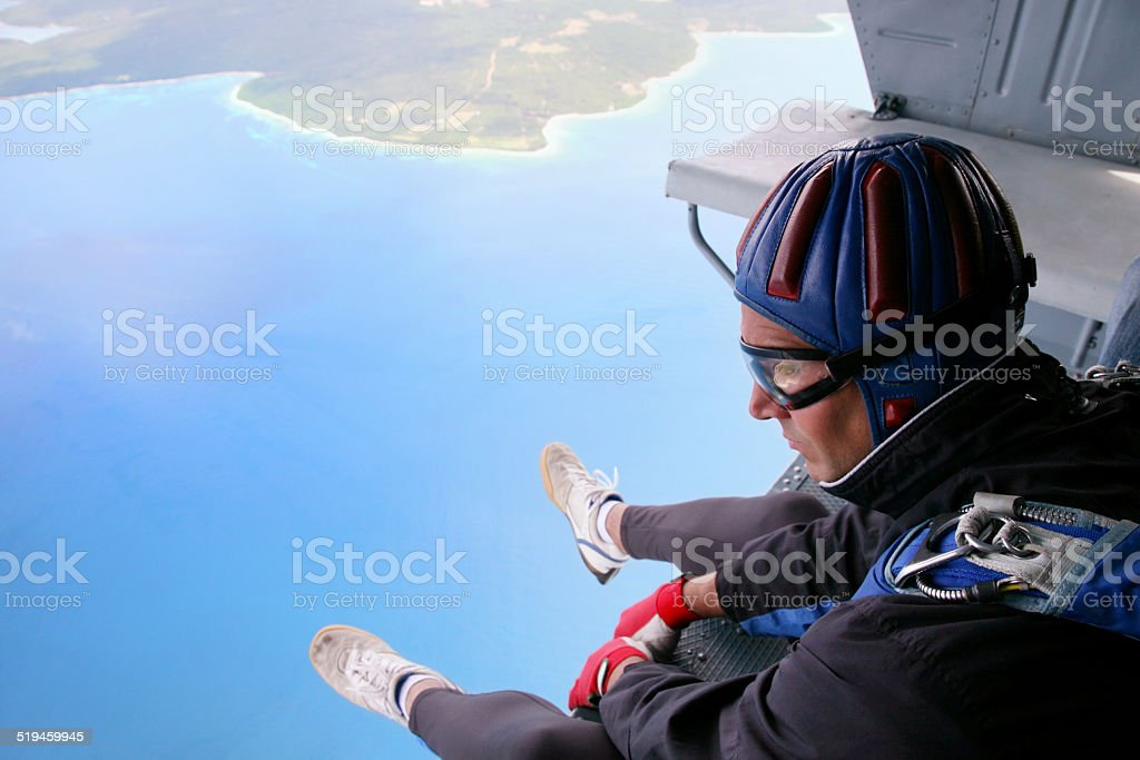Skydiving Point of View stock photo